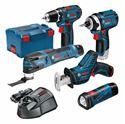 Immagine di Professional Set: utensili a batteria a 12 V GSA + GSR + GOP + GDR + GLI + 3 batterie da 2,0 Ah in valigetta L-BOXX